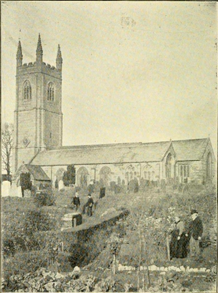 Stoke Climsland Church in 1900
