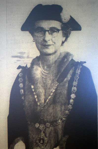Launceston's 1959 Mayor, Mrs. Kathleen Keast, the first female