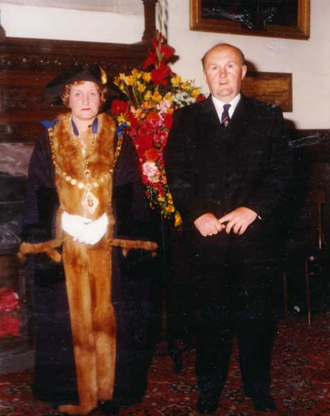 Launceston Mayor Ruth Sleeman with her husband Derrick.