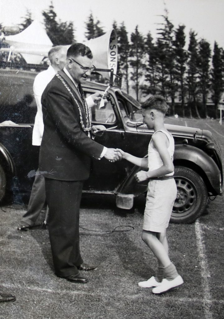 1955 inter-school sports day at Coronation Park