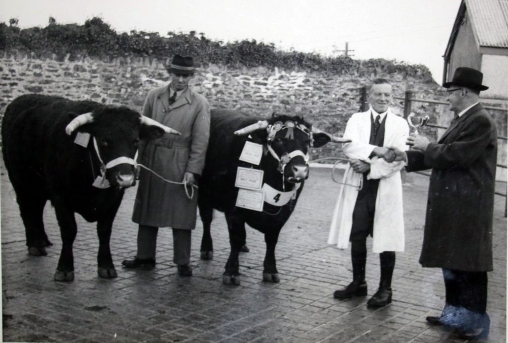 Cecil Robins presents a cup to the Launceston stock winner Dec 1955