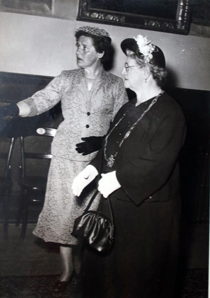 Gwendoline and the new mayoress in 1956