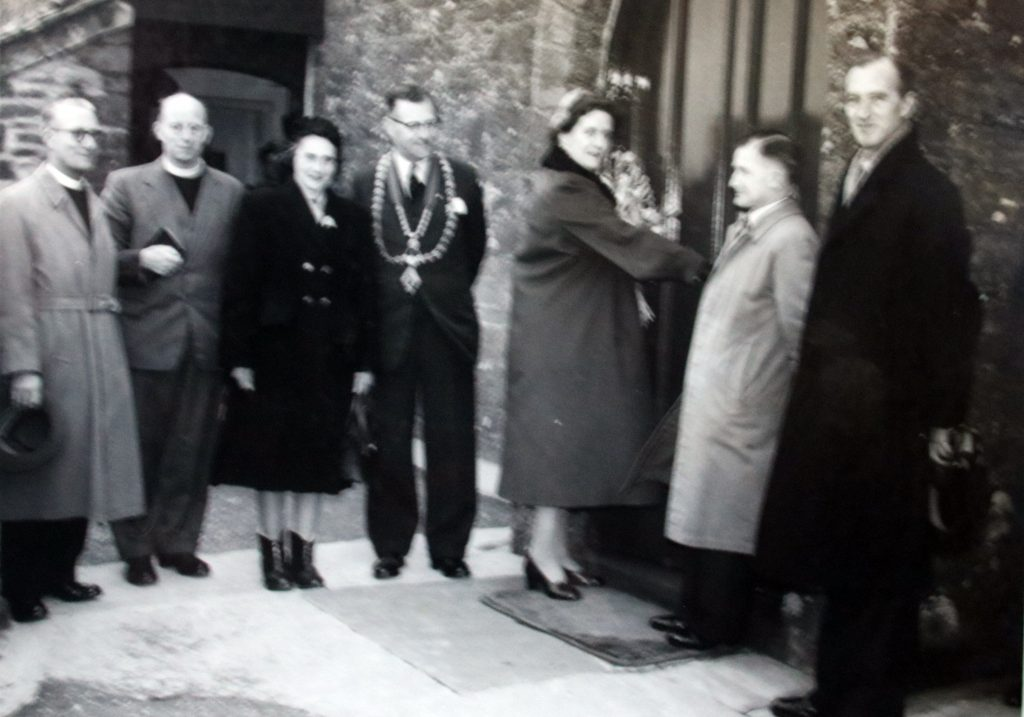 Re-opening of Congdons Shop Chapel 5 April 1956
