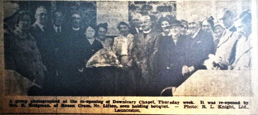 Re-opening of Downicary Chapel after renovation in October 1957.