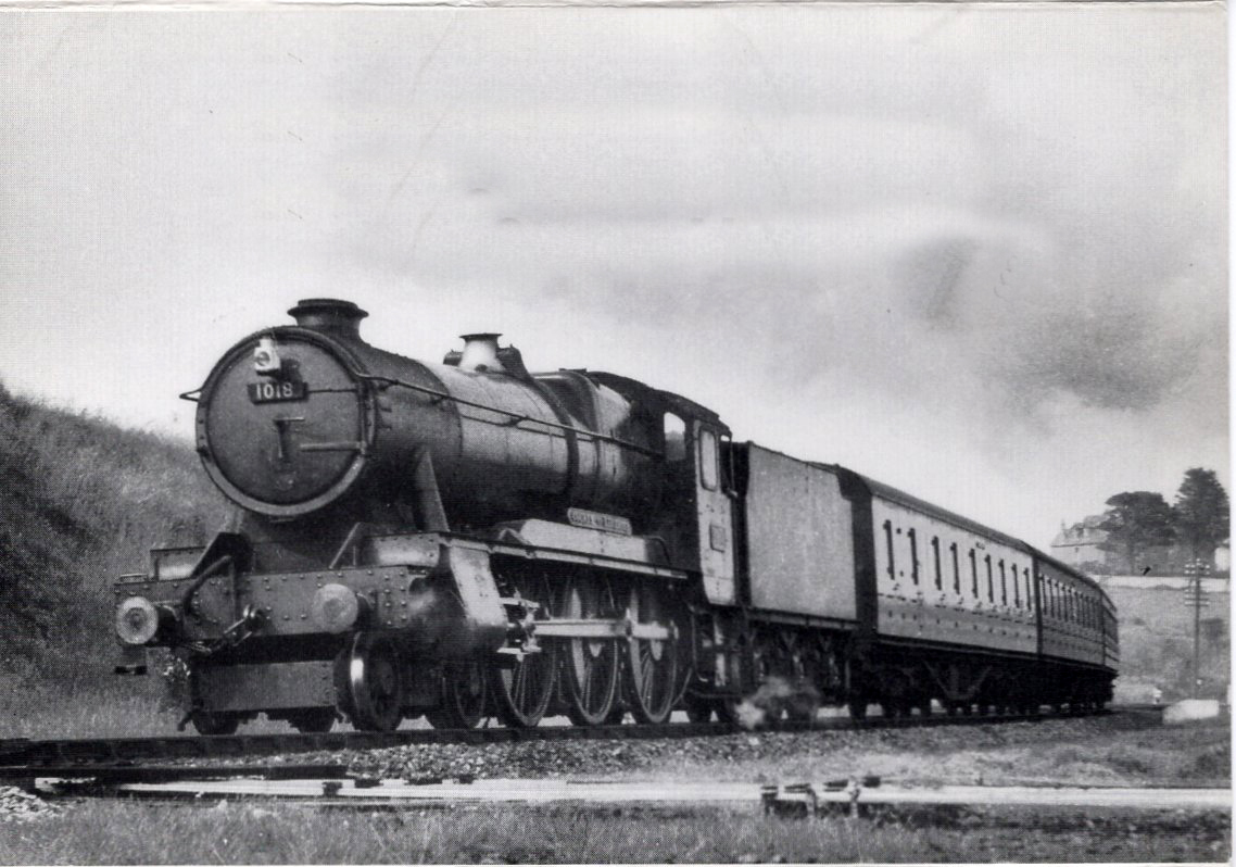 1018 passing Penwithers Junction, near Truro June 16 1958