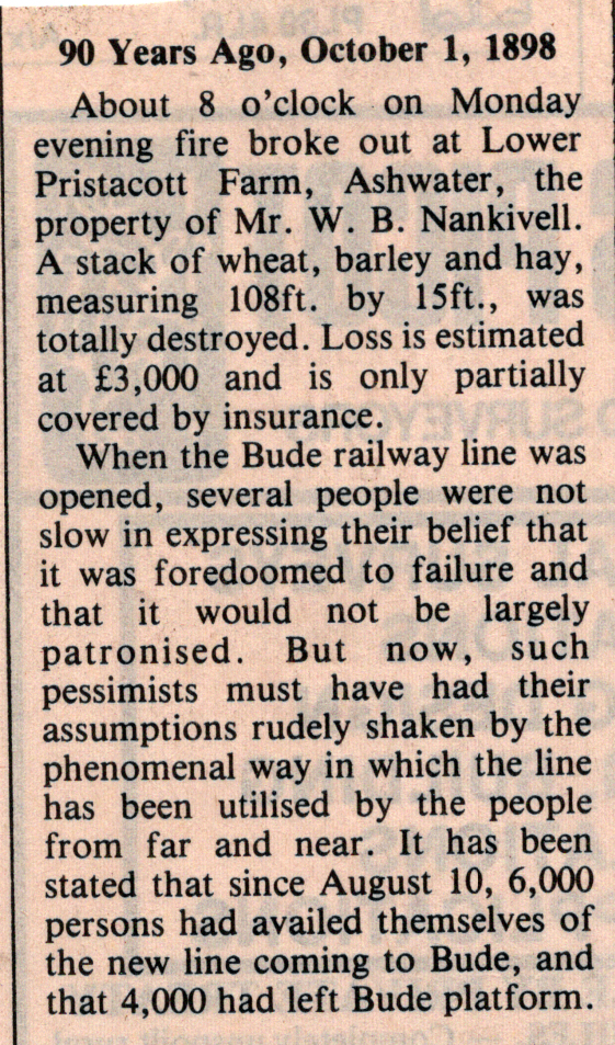 1898 article on the Bude Line