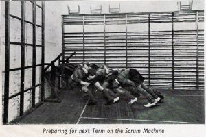 1938 preparing for that seasons rugby scrum at Launceston College