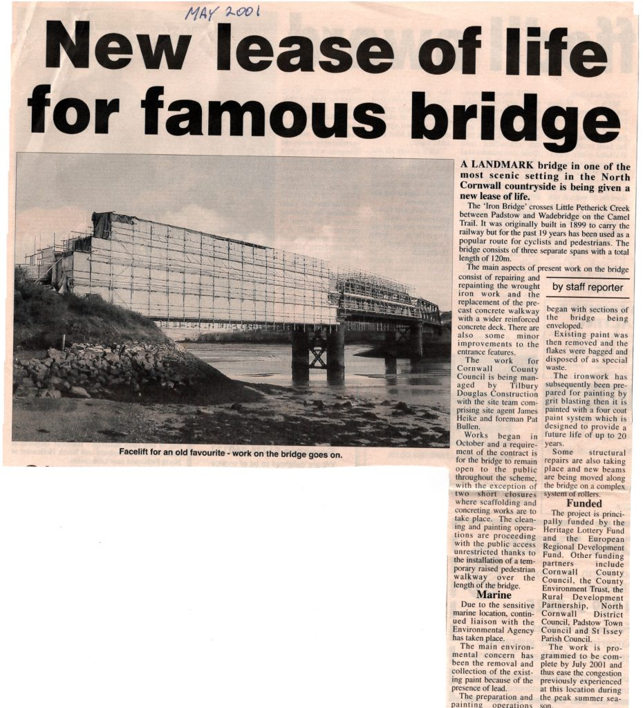 2001 article on Little Petherick Creek Bridge refurbishment