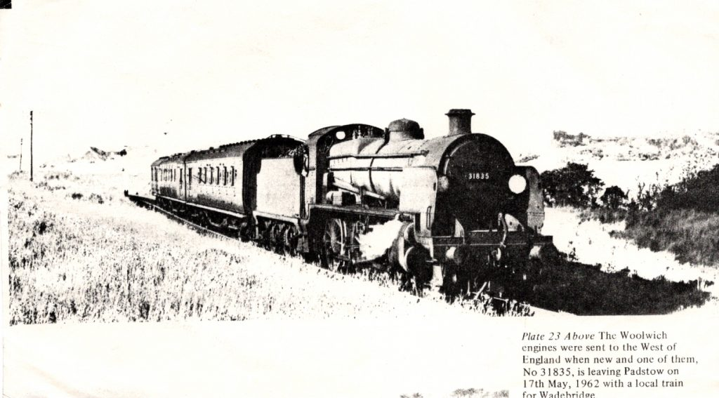 31835 heads out of Padstow in 1962