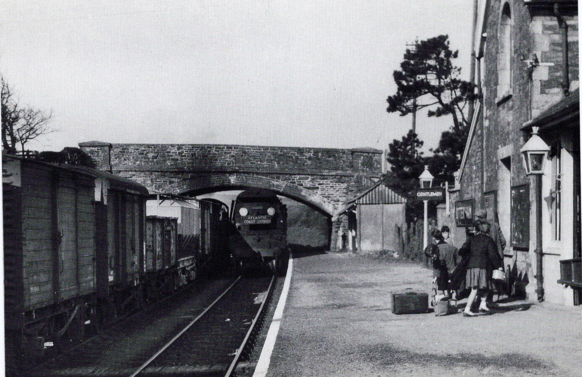 34038 with the up ACE arriving at Otterham April 21 1960