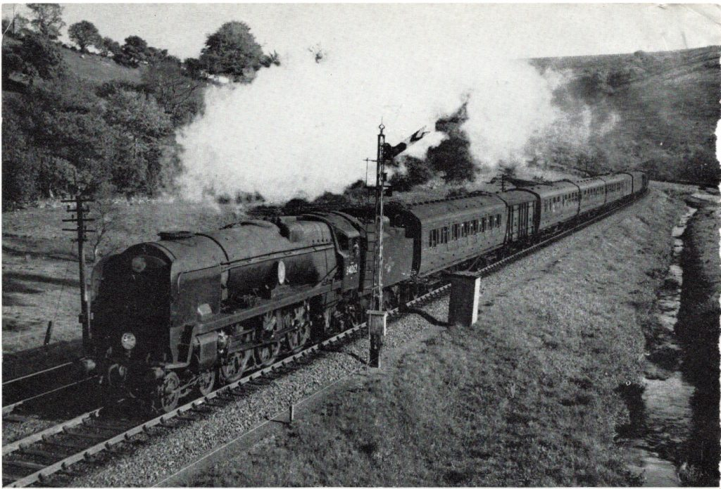 34062 climbs the north side of Dartmoor near Brentor on May 10 1961