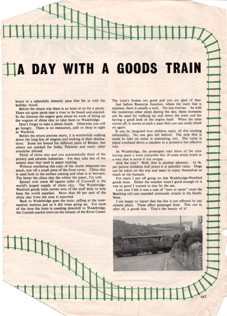 A day with a goods train