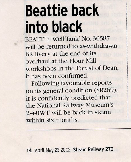 Beattie Well Tank 30587 article 2002