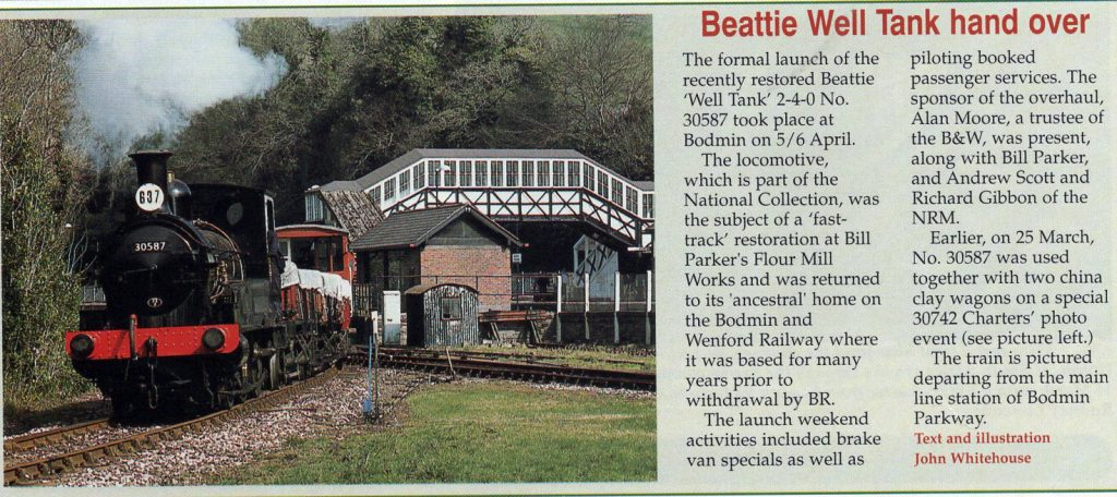 Beattie Well Tank article from 2003
