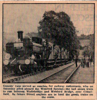 Bodmin and Wenford Railway Article