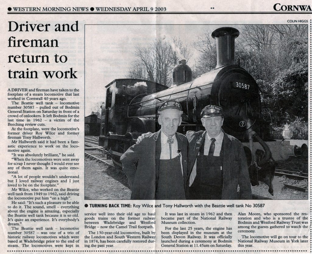 Bodmin reunion article from 2003