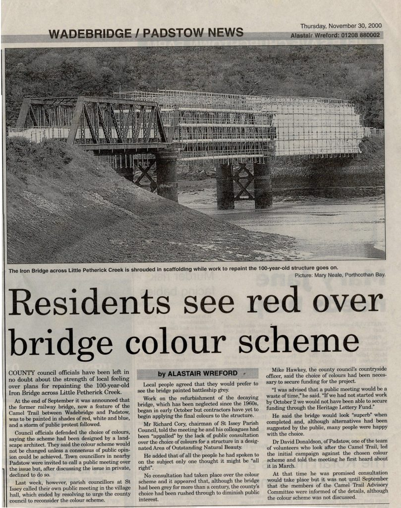 Colour disagreement article November 2000