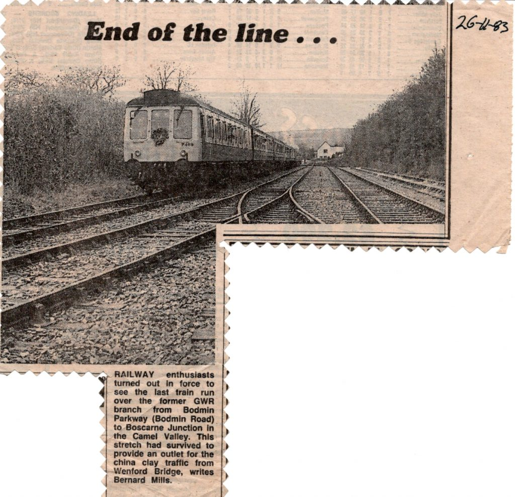 End of the line article from 1983