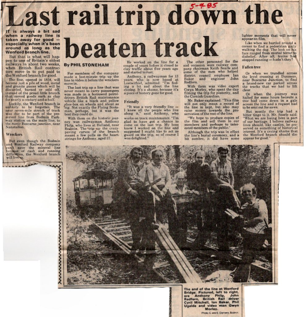 End of the line article from 1985