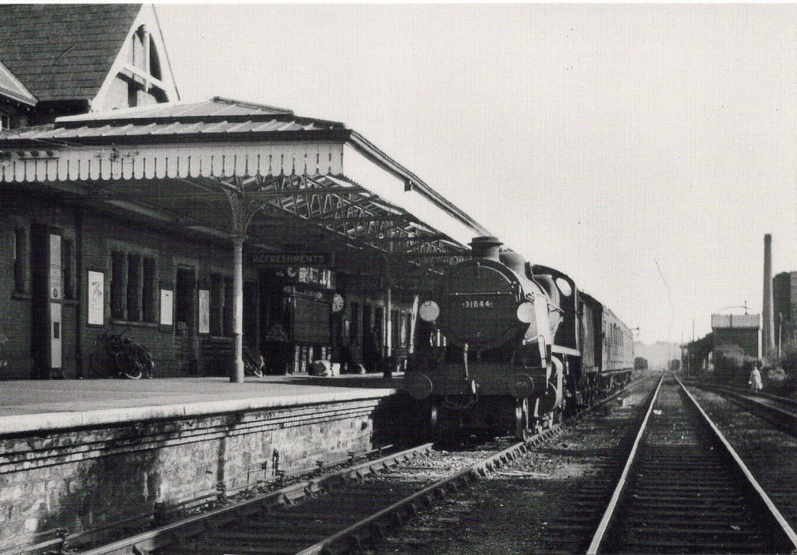 Engine no 31844 at Bude, April 21, 1960