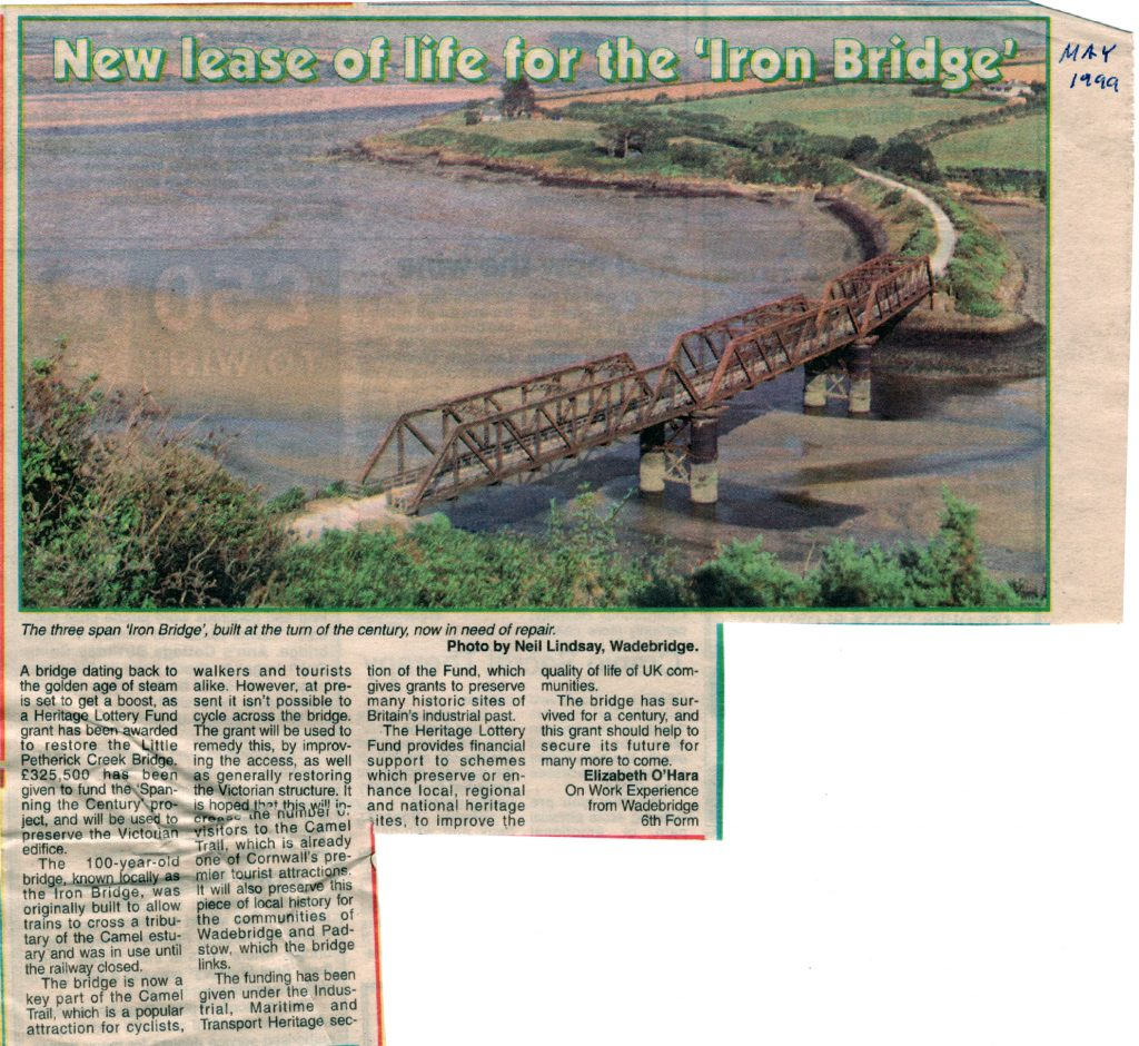 Little Petherick Creek Bridge article from 1999