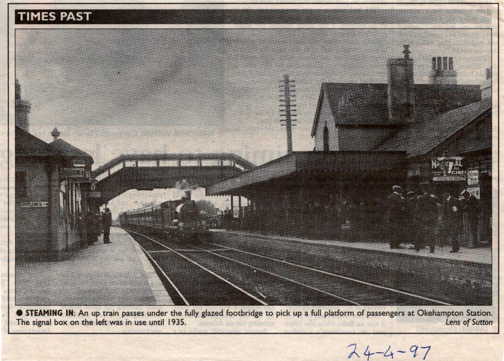 Okehampton Station in 1935