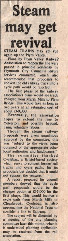Plym Valley Railway article