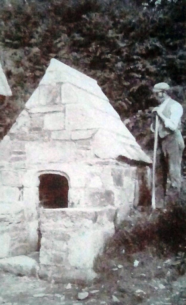 St Clether holy well after its restoration in 1895.