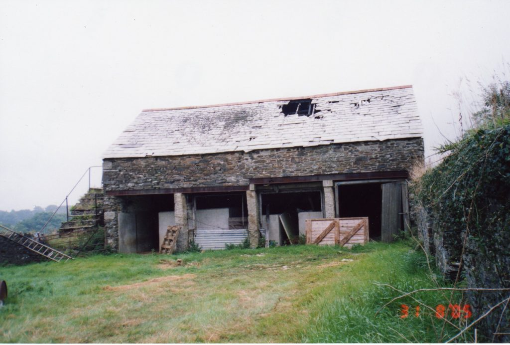 The wagon shed at Scarne Farm