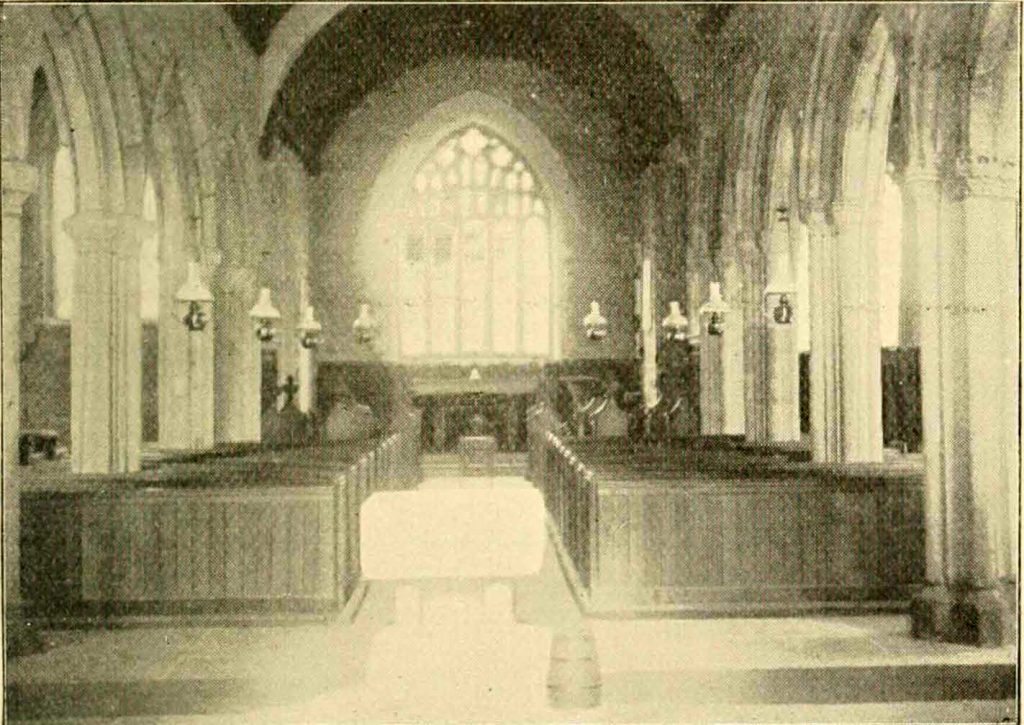 Linkinhorne Church interior 1900
