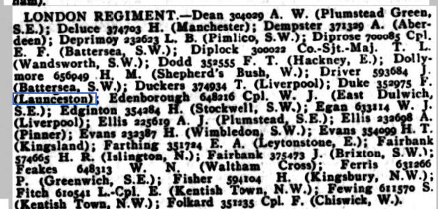 POW Weekly Casualty List (War Office & Air Ministry ) - Tuesday 17 September 1918