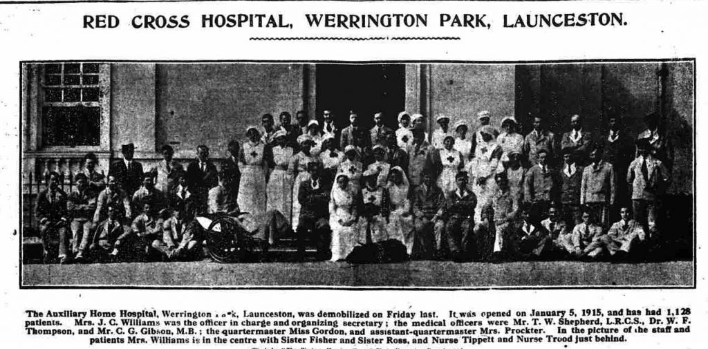 Red Cross Hospital, Werrington House which was demobilized on March 28th, 1919.