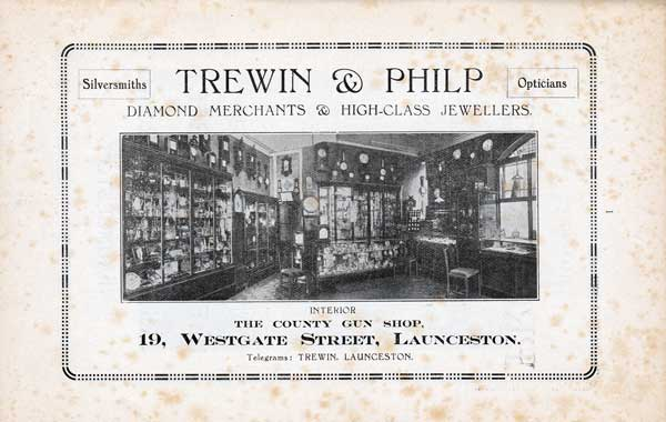Trewin of Launceston 1928 advert