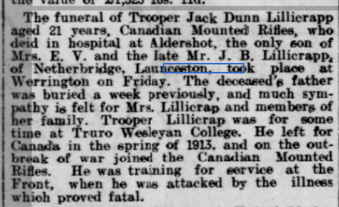 West Briton and Cornwall Advertiser - Monday 17 January 1916
