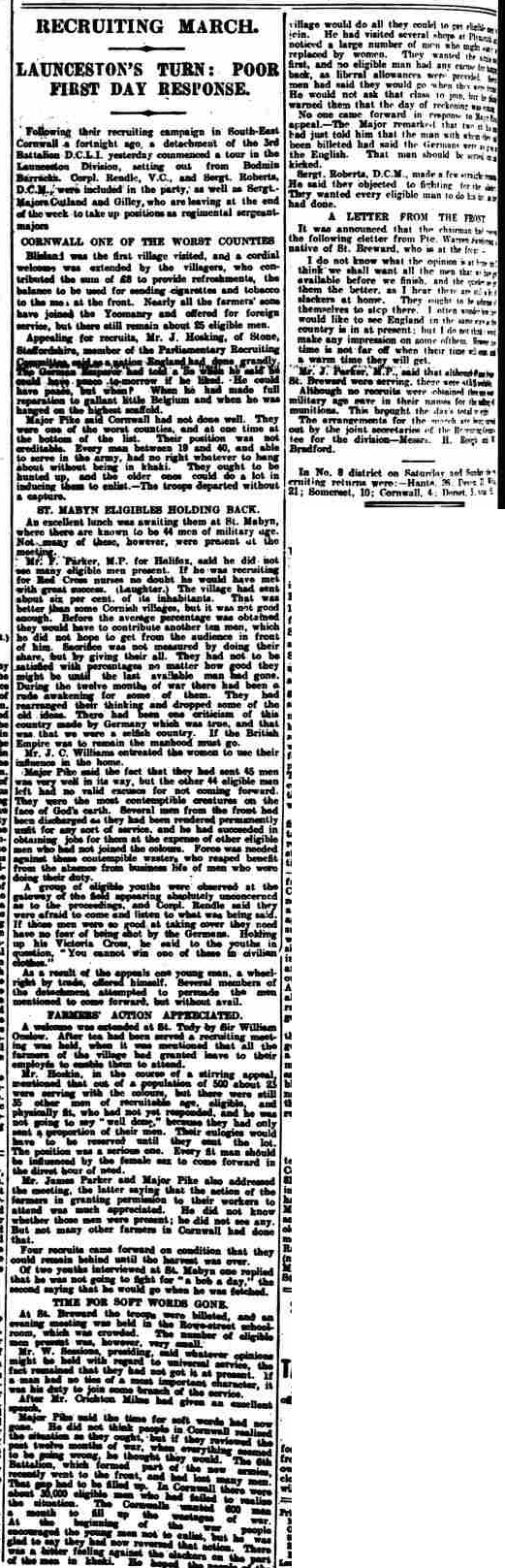 Western Morning News - Tuesday 10 August 1915