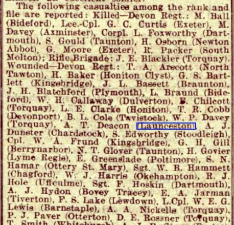 Western Times - Thursday 21 November 1918