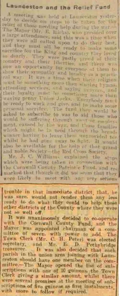 Western Times - Tuesday 18 August 1914