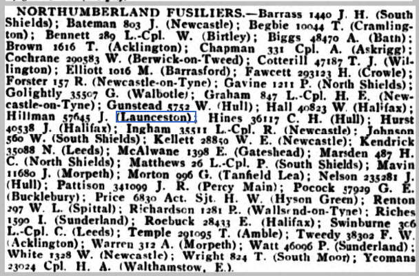 Wounded Weekly Casualty List (War Office & Air Ministry ) - Tuesday 04 December 1917