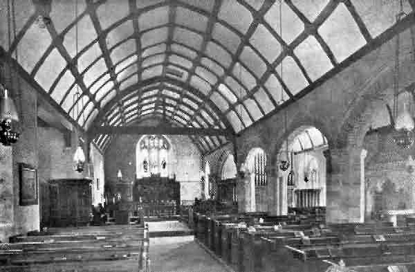 St. Peter's Church, Ashwater, interior. By J. Stabb