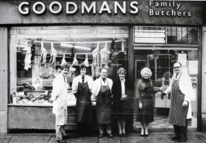 Lewis Goodman 1, Church Street. With , Mark Tilley, Joe Wonnacott, Margaret Bray, Mrs. Goodman and Lewis Goodman.
