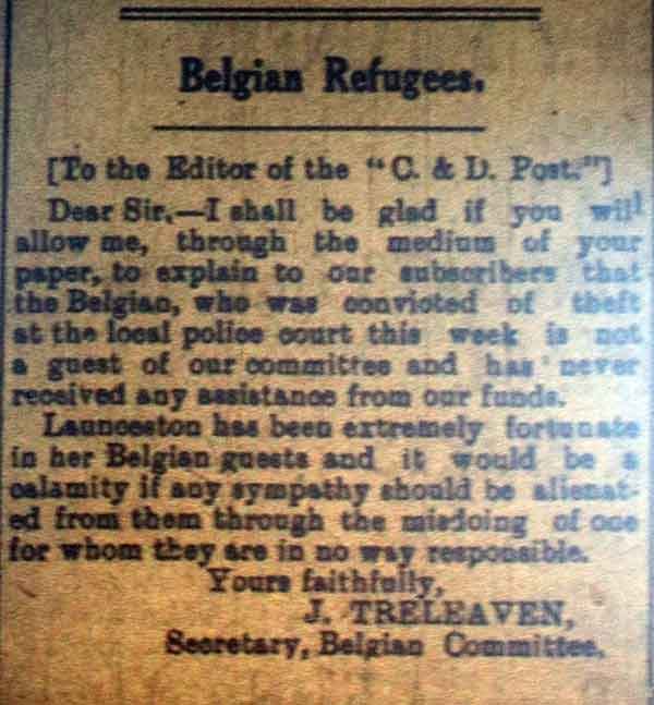 Belgium Refugee Arrest, February, 1918