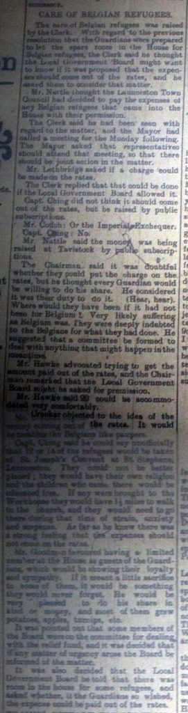 Belgium Refugee article November 1914
