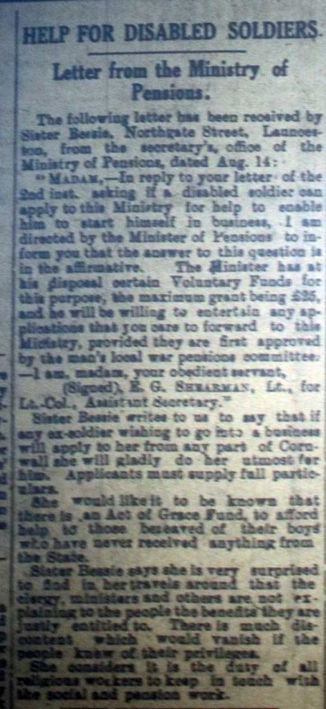 Help for the Disabled Soldier, September 14th, 1918.