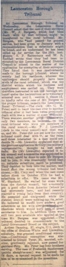 Launceston Tribunal January 6th, 1917