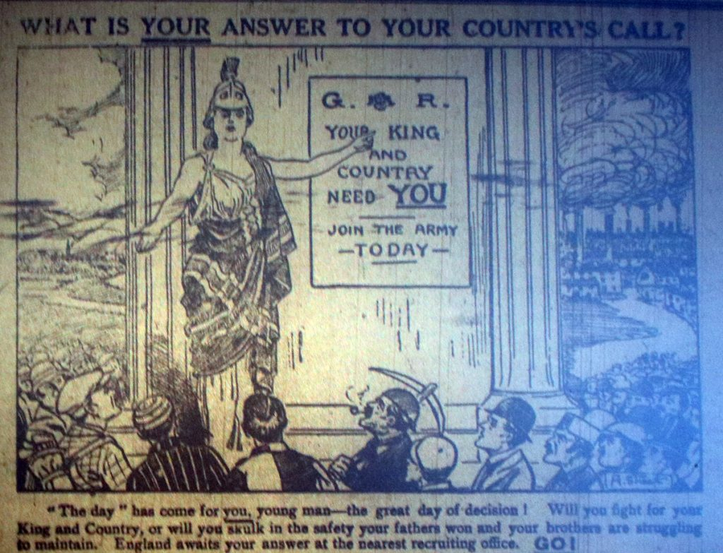 Recruitment Advert October 1914