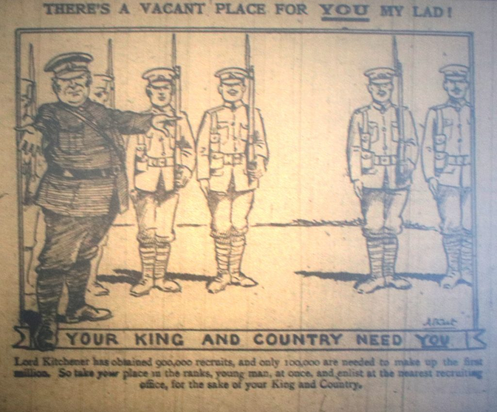 Your Country Needs You November 1914