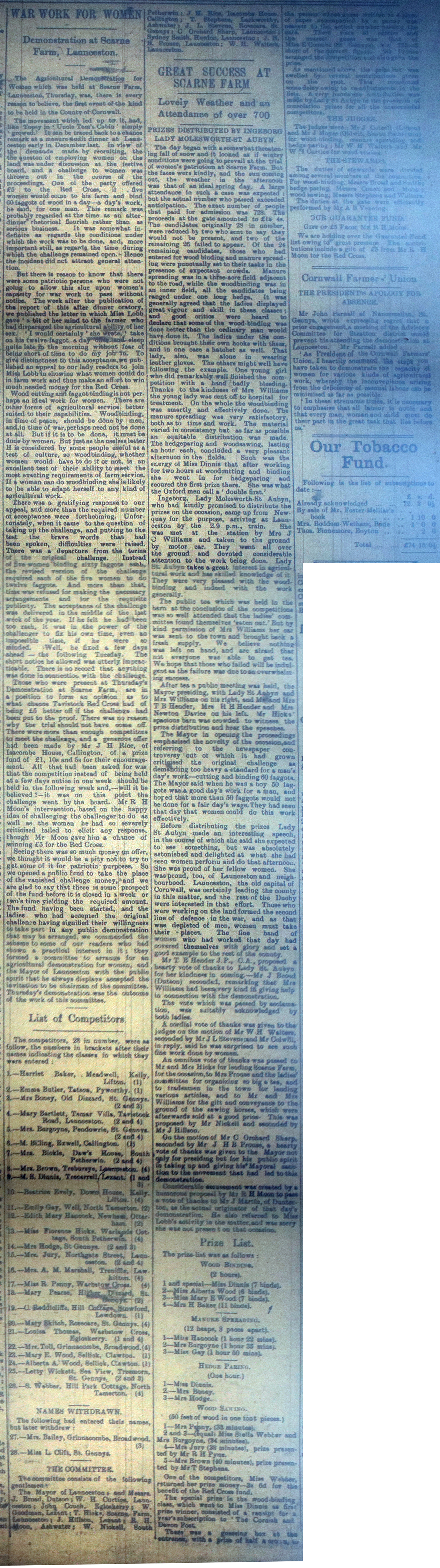 Scarne Demonstration Article March 11th, 1916