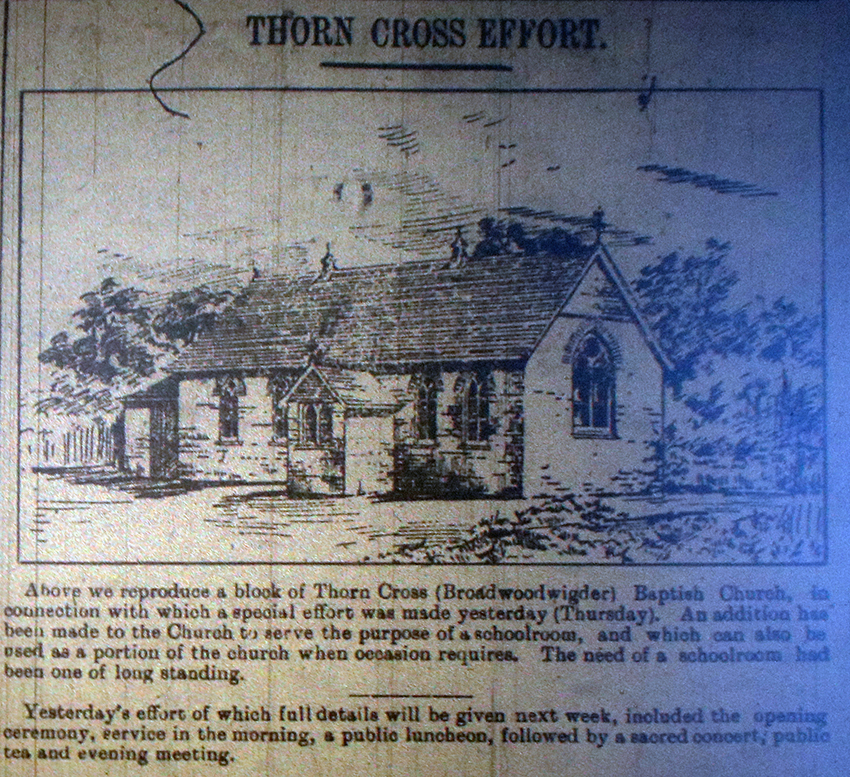 Thorn Cross Chapel October 1914