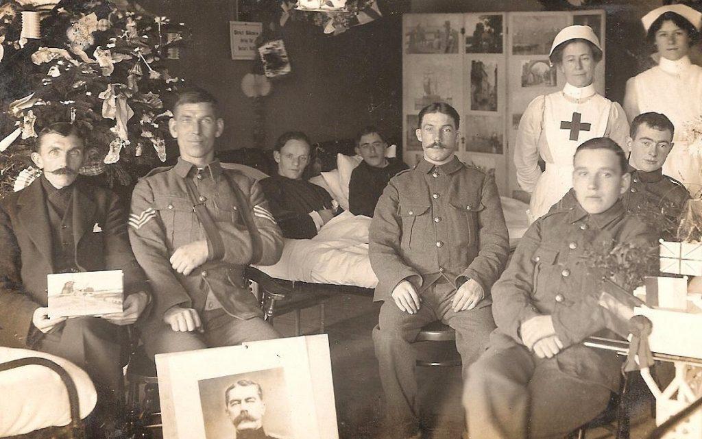 Sydney Moon in Hospital Christmas 1917-1918