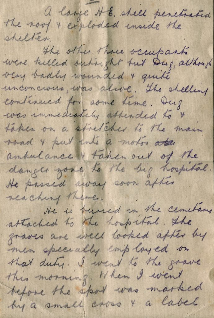 A. J. Boyd's letter to Mrs Cavey September 18th, 1917, Page